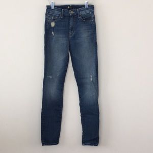 Mother denim high waisted looker in rough it up 25